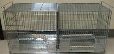 NEW Stackable Bird Finch Canary Breeder Breeding Cage With Divider Galvanize 692
