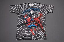 XL *NOS vtg 90s 1993 all over print SPIDERMAN VENOM CARNAGE marvel comic t shirt