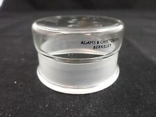 A & C Glass Cylindrical Weighing Bottle Lid Cap Stopper 45/12 Outer Joint