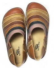 Spring Step Firefly Shoes Colorful Striped Size Leather Clogs Shoes 6 / 38 New