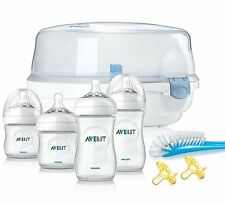 Philips Avent Natural Essentials Baby Bottle Gift Set Feeding Sterilizer Brush