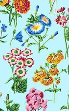 Botanical Floral Spray Cotton Quilt Fabric  Blue Westminster Snow Leopard  BFab