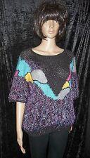 handgestrickt Pullover Ricarda-S Baumwollgemisch L XL German handknitted sweater