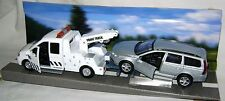 Nouveau teamsters city recovery tow truck & argent voiture 1:32 diecast toy model boxed
