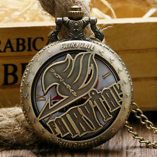 Fashion Fairy Tail Anime Pocket Watch Chain Cartoon Dragneel Pendant Kids Gift