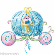 "33"" Disney Princess Cinderella Crystal Pumpkin Carriage Foil Supershape Balloon"