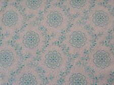 Blanc et Noir by Quilting Treasures BTY Delicate Turquoise Floral on White