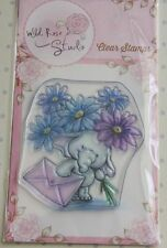 Wild Rose Studio 'Bella with Flowers' Clear Stamp