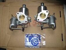 """Pair of Genuine SU Carburetors HS4 1 1/2"""" for MGB Completely New Made in the UK"""