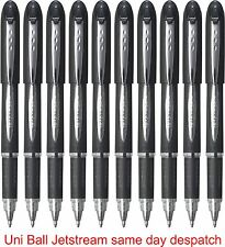 2 x BLACK UNI-BALL JETSTREAM SX-210  PREMIUM ROLLERBALL PEN 1.0 POINT BLACK INK