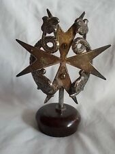 Vintage Hood Ornament Star and Two Fish Vintage 5 Inches