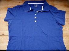 TB0235 RIDERS by LEE Damen Polo-Shirt Blau Kurzarm T-Shirt  Gr. L 40 42 TOP