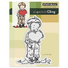 PENNY BLACK RUBBER STAMPS SLAPSTICK CLING HIS HEART VALENTINE NEW cling STAMP