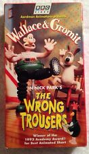 Wallace & Gromit - The Wrong Trousers (Prev. Viewed VHS) BBC Video OOP