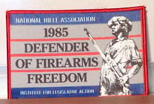 National Rifle Association NRA Patch, 1985 Defender of Firearms Freedom! Patriot