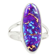 Copper Purple Turquoise 925 Sterling Silver Ring Jewelry s.9 SR207569