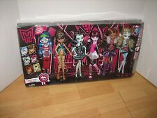 Set 6 ORIGINAL MONSTER HIGH Doll Ghoulia LAGOONA Cleo FRANKIE Clawdeen + MIB