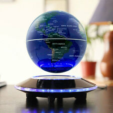 "Hot 6"" UFO Shaped Base Maglev Levitating Globe World Map Blue Black"