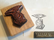 antique SCALE RUBBER STAMP - as used in old time stores to measure weights!