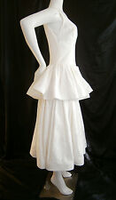 FANCY NY DESIGNER WEDDING GOWN DRESS 6- 8 SILK VINTAGE INSPIRED IVORY CREAM