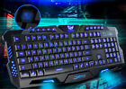 Backlit Pro Gaming USB Keyboard Multimedia Illuminated LED USB Wired