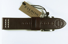 New! Filson Watch Band / Strap - Genuine Handcrafted Leather ( Dark Brown ) 22mm