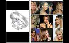 Celebrity 1.4 ct Radiant Russian CZ Promise Engagement SS Ring Band