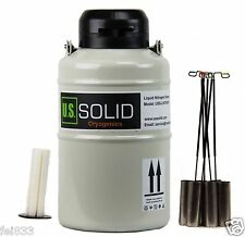 U.S.Solid 3L Liquid Nitrogen Container Cryogenic Tank Dewar+6Pcs Pail Lock Cover