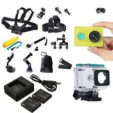 Green Genuine XiaoMi Yi WIFI Sports Camera DVR+Spare Parts Kit+Charger+Battery
