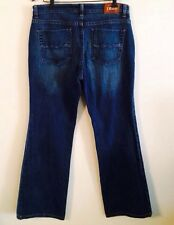 •• Size 12 WOMENS IZOD Favorite Flare Jeans Zipper Fly Nice Pkts Blue Denim 23