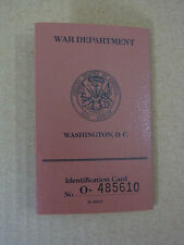 US Army ww2 GI Soldier 's Identification Card/truppe tessera era Department