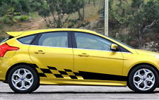 Car Vinyl Decal Body Decals Side Stickers Checkered Flags for FOCUS 12 #928