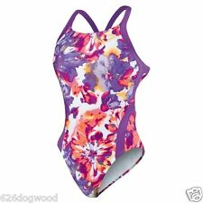 NWO Nike NX Floral Tie Dye Girls 28 12 Youth Competition Race Swim Suit Swimsuit