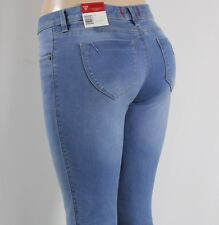 100% AUTHENTIC WOMENS JEANS GUESS MEDIUM RISE BOOT CUT BLUE STRETCH SZ 26