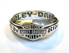 Biker Ring Live to Ride - Ride to Live #1265 sterling silver 925 size 9
