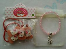 New In Pack Hello Kitty Hair Accessories + Free Gift
