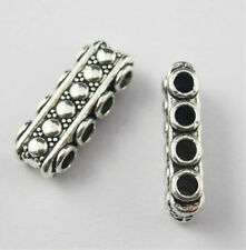 Free Ship 20Pcs Tibetan Silver 4 Hole Connectors Spacer Beads 17x6.5mm