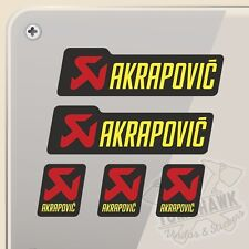 PEGATINA KIT AKRAPOVIC EXHAUST VINILO VINYL STICKER DECAL AUFKLEBER ADESIVI