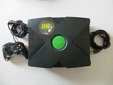 Original Microsoft Xbox Console System + controller and tv cord bundle