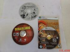 Lot of 3 PC Games: Huntsville, Borderlands, & Grand Ages: Rome DISCS ONLY