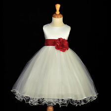 PAGEANT DRESS FLOWER GIRL RECITAL RECEPTION TODDLER JUNIORY FORMAL WEDDING CHILD