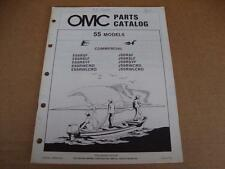 1984 OMC Commercial 55 HP outboard parts catalog Johnson Evinrude 394665
