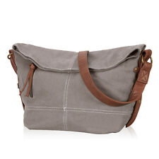 Women Slouchy Messenger Crossbody Canvas Bag Fold-over Hobo Shoulder Bag Satchel