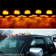 SUV 4x4 Truck Smoked Lens Amber LED Lamp Cab Top Roof Running Marker Lights 5Pcs