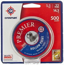 Crosman Premier Hollow Point Pellet .22 cal 500 count NEW Free Shipping