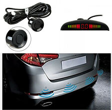4 Parking Sensor Reversing Radar Kit Wireless Reverse LED Display Buzzer Alarm