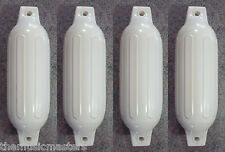 """(4) Marine Premium WHITE 4.5"""" x 16"""" BOAT BUMPERS Dock Fender Cushion Protection"""