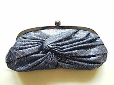 Accessorize sparkle evening clutch grey silver black