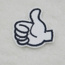 Hand gesture Embroidery Iron on patches sewn For clothing applique badges Hat