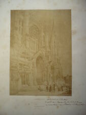 PHOTO ANCIENNE CATHEDRALE DE CHARTRES  1870  BISSON FRERES